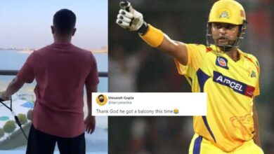 Suresh Raina Is Getting Trolled After He Shared View From His Hotel's Balcony